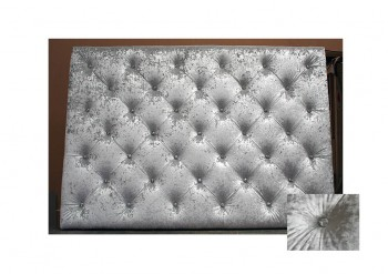 Crystal Buttoned Upholstered Headboard