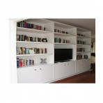White Shelving Unit – Custom Made